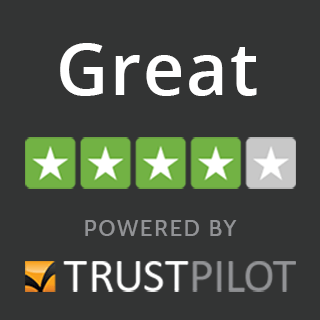 4 out of 5 great trustpilot rating illustration